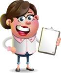 Vector 3D Office Woman Cartoon Character AKA Deona Smarts - Notepad 4
