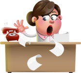 Vector 3D Office Woman Cartoon Character AKA Deona Smarts - Office fever