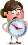 Vector 3D Office Woman Cartoon Character AKA Deona Smarts - Time is Yours