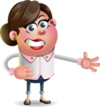Vector 3D Office Woman Cartoon Character AKA Deona Smarts - Show