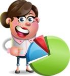 Vector 3D Office Woman Cartoon Character AKA Deona Smarts - Chart