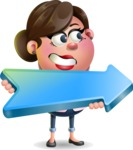 Vector 3D Office Woman Cartoon Character AKA Deona Smarts - Pointer 2