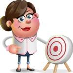 Vector 3D Office Woman Cartoon Character AKA Deona Smarts - Target