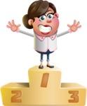 Vector 3D Office Woman Cartoon Character AKA Deona Smarts - On Top