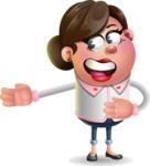 Vector 3D Office Woman Cartoon Character AKA Deona Smarts - Show 2