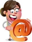 Vector 3D Office Woman Cartoon Character AKA Deona Smarts - Email