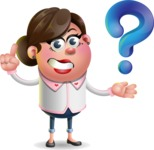 Vector 3D Office Woman Cartoon Character AKA Deona Smarts - Question