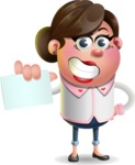 Vector 3D Office Woman Cartoon Character AKA Deona Smarts - Sign 1