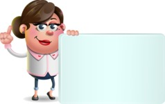 Vector 3D Office Woman Cartoon Character AKA Deona Smarts - Sign 7