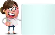 Vector 3D Office Woman Cartoon Character AKA Deona Smarts - Sign 8
