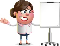 Vector 3D Office Woman Cartoon Character AKA Deona Smarts - Presentation 1