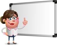 Vector 3D Office Woman Cartoon Character AKA Deona Smarts - Presentation 3