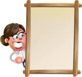 Vector 3D Office Woman Cartoon Character AKA Deona Smarts - Presentation 4