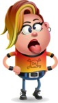 Punk Girl Cartoon Vector 3D Character AKA Harlow Rocks - Making Face