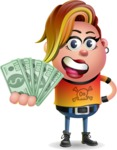Punk Girl Cartoon Vector 3D Character AKA Harlow Rocks - Show me  the Money