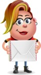 Punk Girl Cartoon Vector 3D Character AKA Harlow Rocks - Letter