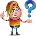 Punk Girl Cartoon Vector 3D Character AKA Harlow Rocks - Question