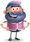 Man with Big Beard Cartoon 3D Vector Character AKA Ernest O'Beard - Normal