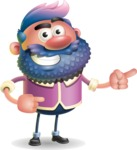 Man with Big Beard Cartoon 3D Vector Character AKA Ernest O'Beard - Point 2