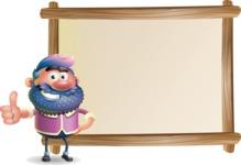 Man with Big Beard Cartoon 3D Vector Character AKA Ernest O'Beard - Presentation 5