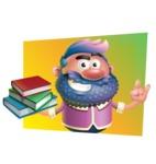 Man with Big Beard Cartoon 3D Vector Character AKA Ernest O'Beard - Shape 3
