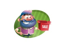 Man with Big Beard Cartoon 3D Vector Character AKA Ernest O'Beard - Shape 4