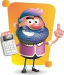 Man with Big Beard Cartoon 3D Vector Character AKA Ernest O'Beard - Shape 5