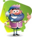 Man with Big Beard Cartoon 3D Vector Character AKA Ernest O'Beard - Shape 7