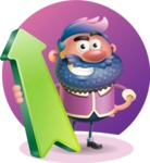 Man with Big Beard Cartoon 3D Vector Character AKA Ernest O'Beard - Shape 8