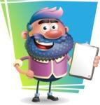Man with Big Beard Cartoon 3D Vector Character AKA Ernest O'Beard - Shape 11