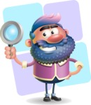 Man with Big Beard Cartoon 3D Vector Character AKA Ernest O'Beard - Shape 12