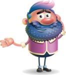 Man with Big Beard Cartoon 3D Vector Character AKA Ernest O'Beard - Sorry