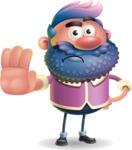 Man with Big Beard Cartoon 3D Vector Character AKA Ernest O'Beard - Stop 2