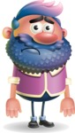 Man with Big Beard Cartoon 3D Vector Character AKA Ernest O'Beard - Sad