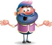 Man with Big Beard Cartoon 3D Vector Character AKA Ernest O'Beard - Lost