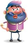 Man with Big Beard Cartoon 3D Vector Character AKA Ernest O'Beard - Duckface