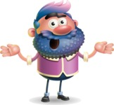 Man with Big Beard Cartoon 3D Vector Character AKA Ernest O'Beard - Confused