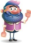 Man with Big Beard Cartoon 3D Vector Character AKA Ernest O'Beard - Goodbye