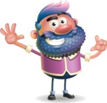 Man with Big Beard Cartoon 3D Vector Character AKA Ernest O'Beard - Hello