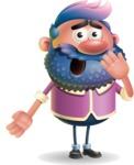Man with Big Beard Cartoon 3D Vector Character AKA Ernest O'Beard - Oops