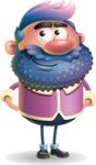 Man with Big Beard Cartoon 3D Vector Character AKA Ernest O'Beard - Patient