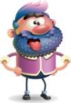 Man with Big Beard Cartoon 3D Vector Character AKA Ernest O'Beard - Making Face