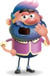 Man with Big Beard Cartoon 3D Vector Character AKA Ernest O'Beard - Bored