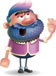 Man with Big Beard Cartoon 3D Vector Character AKA Ernest O'Beard - Bored 2