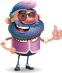 Man with Big Beard Cartoon 3D Vector Character AKA Ernest O'Beard - Sunglasses