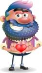 Man with Big Beard Cartoon 3D Vector Character AKA Ernest O'Beard - Show Love