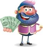 Man with Big Beard Cartoon 3D Vector Character AKA Ernest O'Beard - Show me  the Money