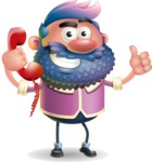 Man with Big Beard Cartoon 3D Vector Character AKA Ernest O'Beard - Support