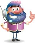 Man with Big Beard Cartoon 3D Vector Character AKA Ernest O'Beard - Support 2