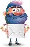 Man with Big Beard Cartoon 3D Vector Character AKA Ernest O'Beard - Letter